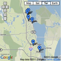 Click for descriptions of North Area Brevard Parks